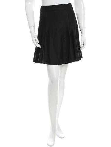 Alexander McQueen Wool A-Line Skirt None
