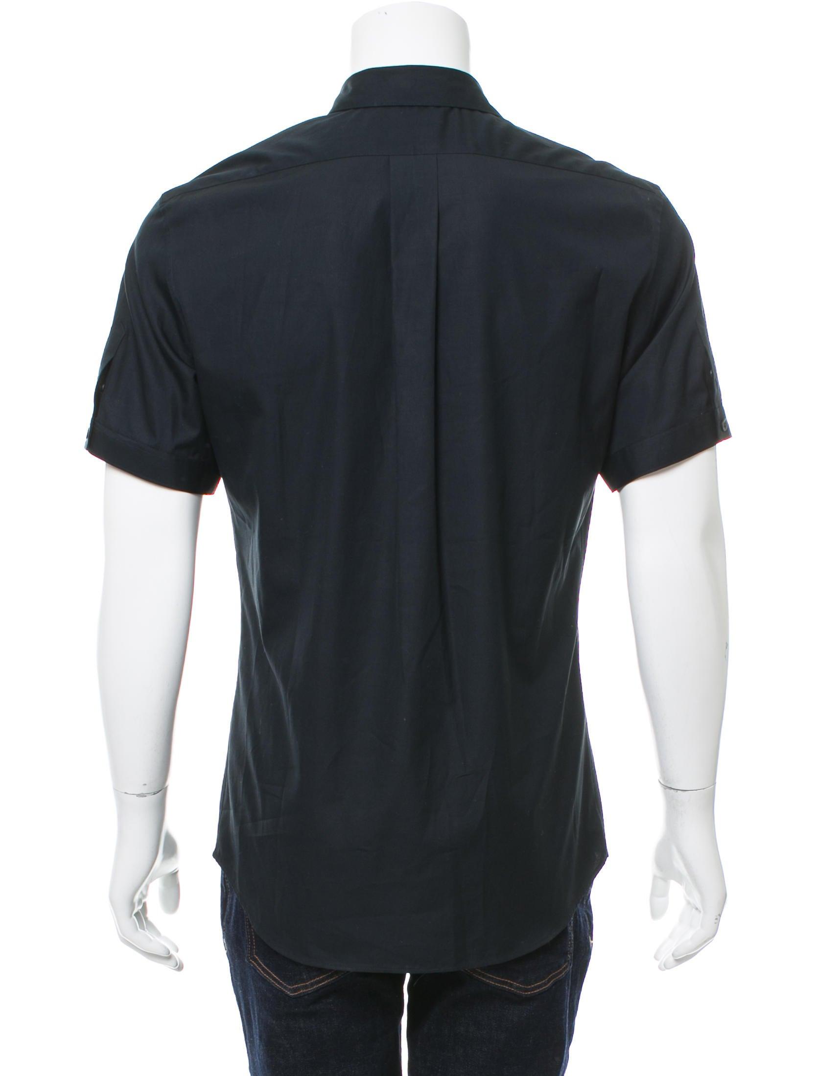 Alexander Mcqueen Short Sleeve Button Up Shirt Clothing
