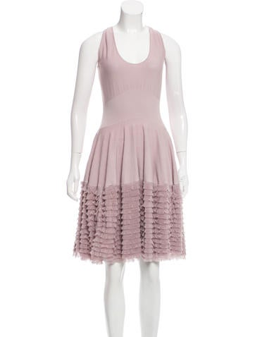 Alexander McQueen Sleeveless Knit Dress None