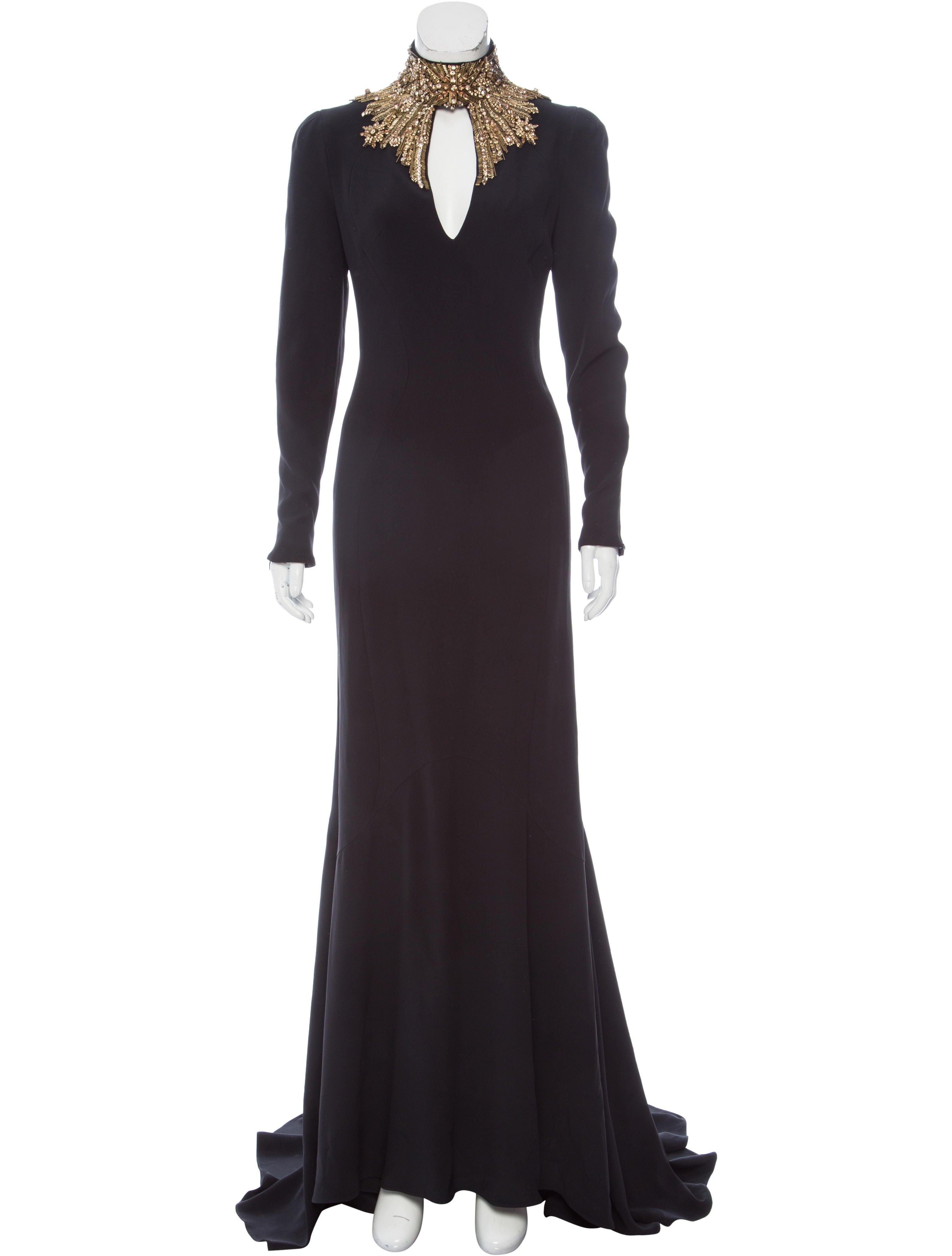 Alexander Mcqueen Embellished Evening Dress Clothing