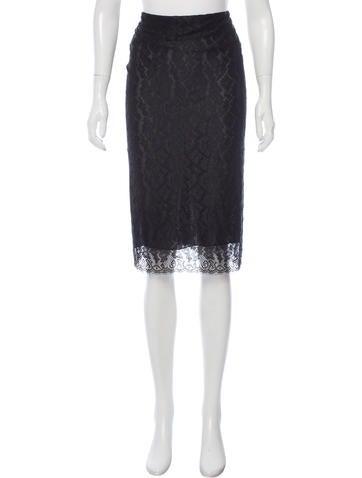 Alexander McQueen Knee-Length Lace Skirt None