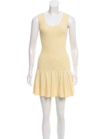 Alexander McQueen Knit Fit & Flare Dress None
