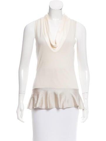 Alexander McQueen Silk & Wool-Blend Sleeveless Top None