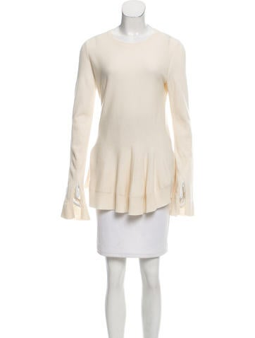 Alexander McQueen Flared Wool Sweater None