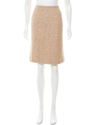Alexander McQueen Tweed Knee-Length Skirt None