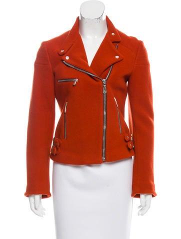 Alexander McQueen Wool Zip-Up Jacket None
