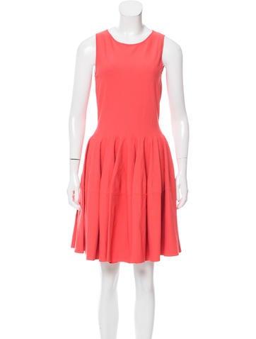 Alexander McQueen Flared Mini Dress None