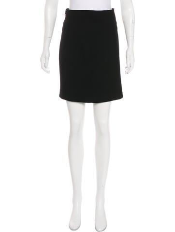 Alexander McQueen Wool Mini Skirt None