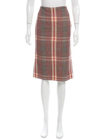 Alexander McQueen Knee-Length Tartan Skirt None
