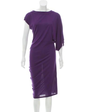 Alexander McQueen Asymmetrical Midi Dress None