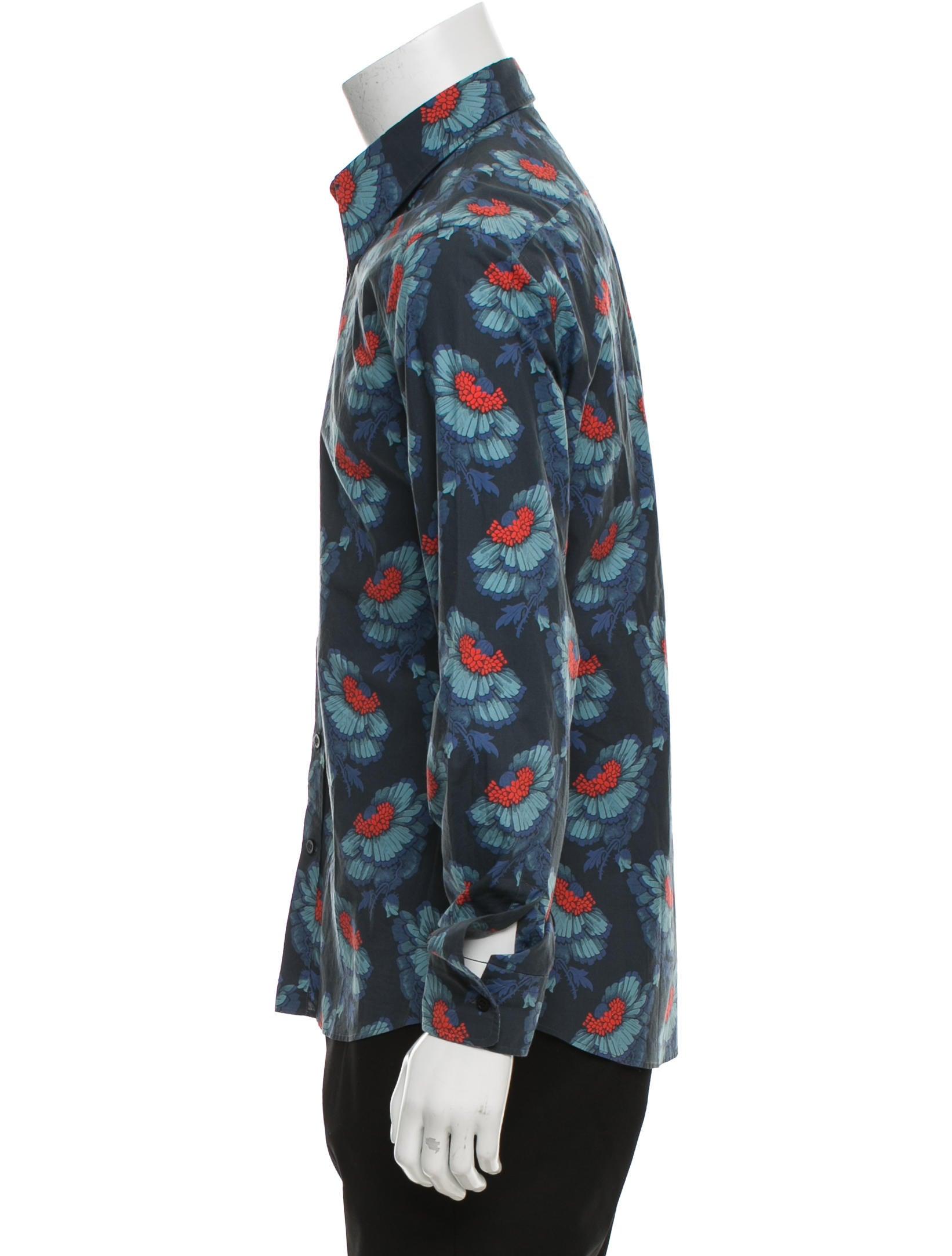 Alexander mcqueen floral print button up shirt clothing for Floral print button up shirt