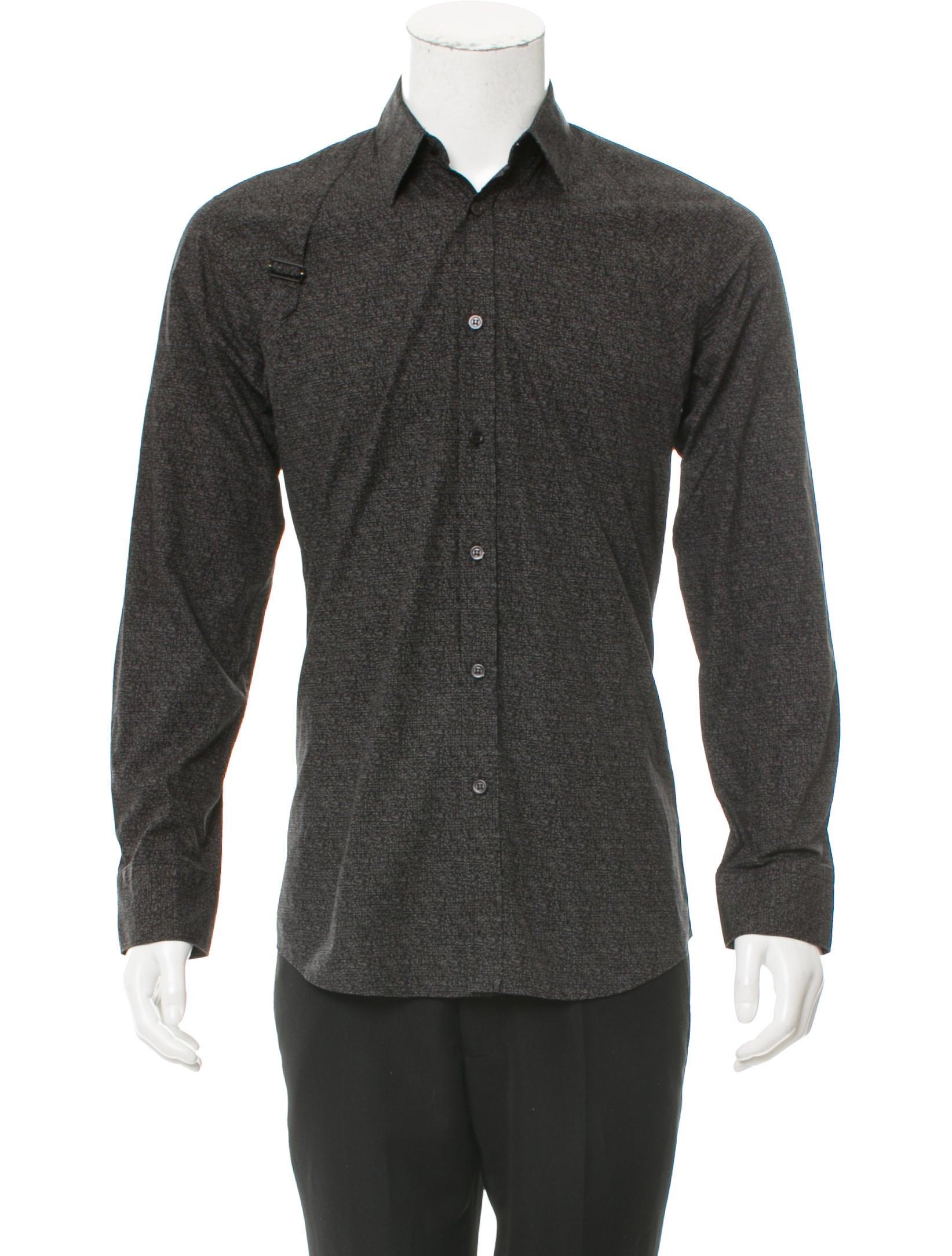 Alexander mcqueen speckled button up shirt clothing for Alexander mcqueen shirt men