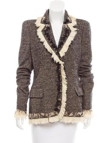 Alexander McQueen Wool Notch-Lapel Blazer None