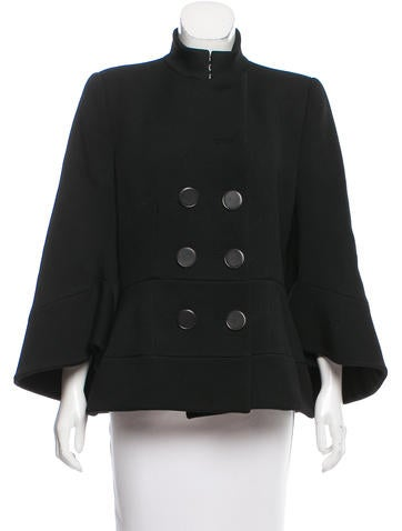 Alexander McQueen Double-Breasted Wool Jacket None