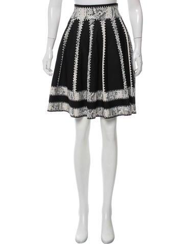 Alexander McQueen Knee-Length Jacquard Skirt None