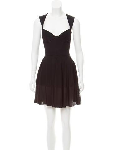 Alexander McQueen Fit & Flare Mini Dress None