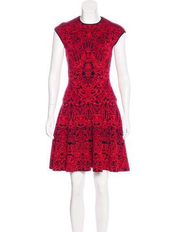 Alexander McQueen Wool Jacquard Dress None