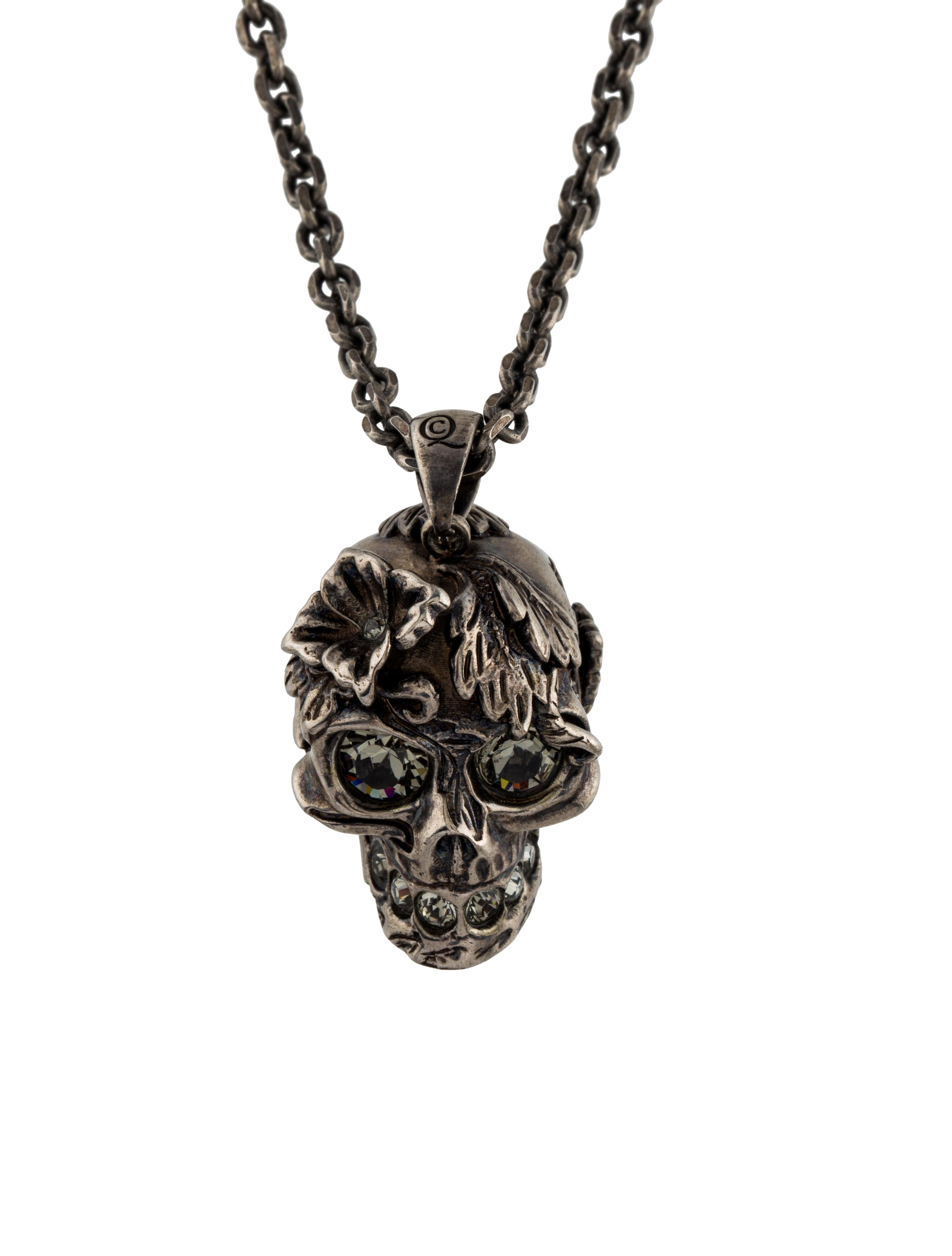 8eff809dd3ae8e Alexander Mcqueen Crystal Skull Pendant Necklace Necklaces