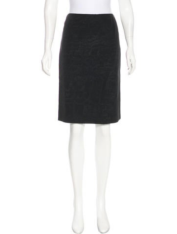 Alexander McQueen Woven Knee-Length Skirt None