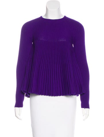 Alexander McQueen Wool Rib Knit Sweater None