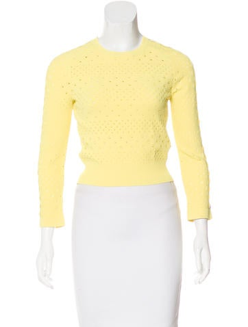 Alexander McQueen Perforated Knit Sweater None