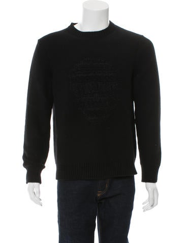 Alexander McQueen Wool Embroidered Skull Sweater None