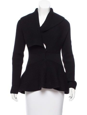 Alexander McQueen Wool Peplum Sweater None