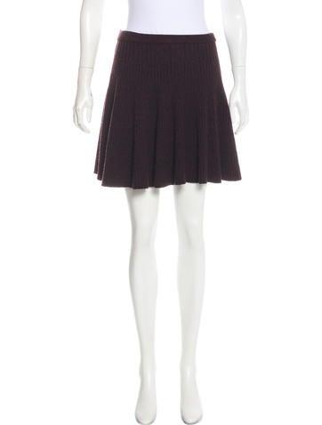 Alexander McQueen Wool Knit Skirt None