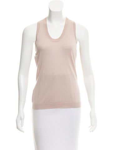 Alexander McQueen Sleeveless Racerback Top None