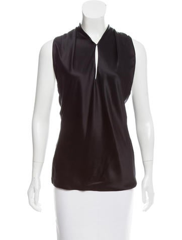 Alexander McQueen Silk Open Back Top None