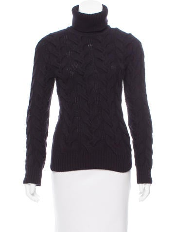 Alexander McQueen Cable Knit Wool Turtleneck None