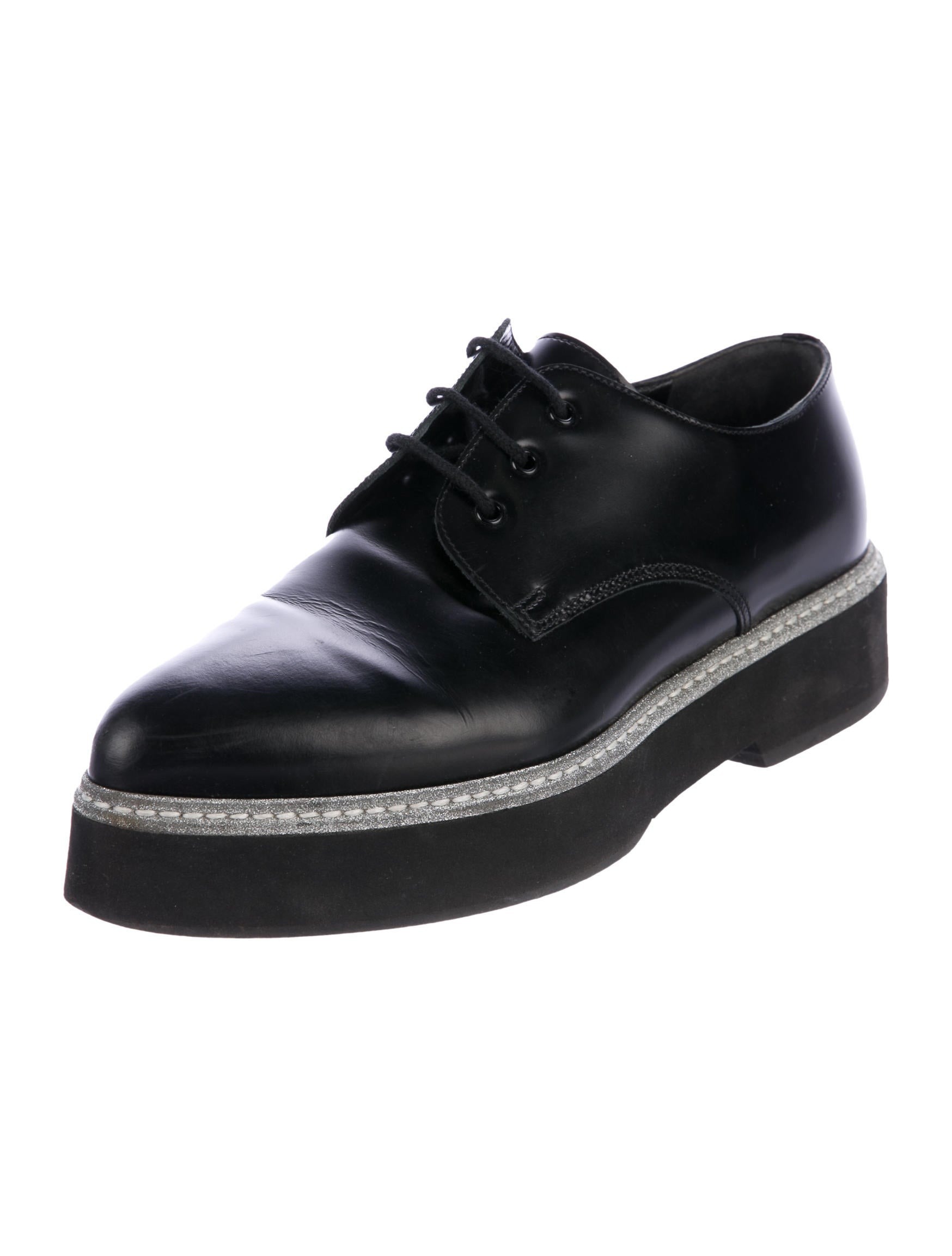 classic cheap price amazing price sale online Alexander McQueen Platform Leather Oxfords low price for sale footaction online 8HhZu