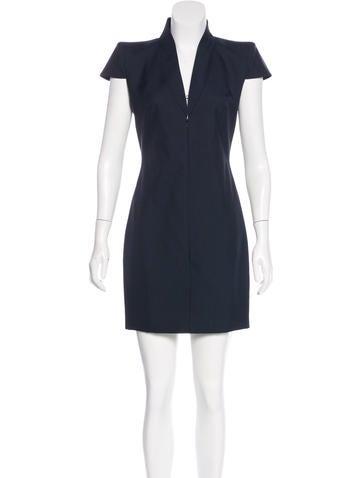 Alexander McQueen Wool Mini Dress None