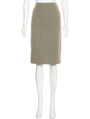 Alexander McQueen Linen-Blend Knee-Length Skirt None