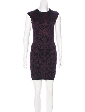 Alexander McQueen Patterned Knit Dress None