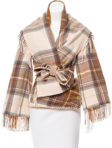 Alexander McQueen Plaid Wool Jacket None