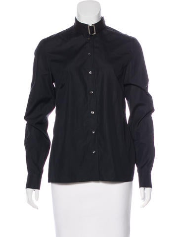 Alexander McQueen Button-Up Long Sleeve Top None