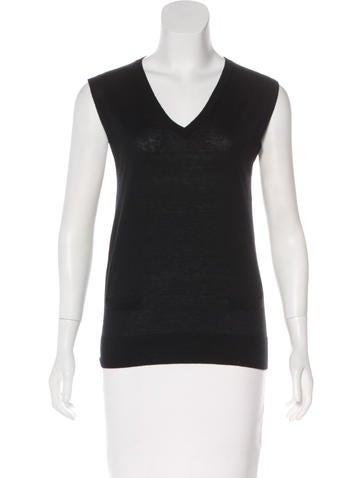 Alexander McQueen Bambu & Cashmere Sweater Vest None
