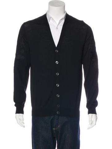 Alexander McQueen Embroidered Wool Cardigan None