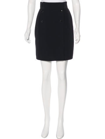Alexander McQueen Double-Breasted Knee-Length Skirt None