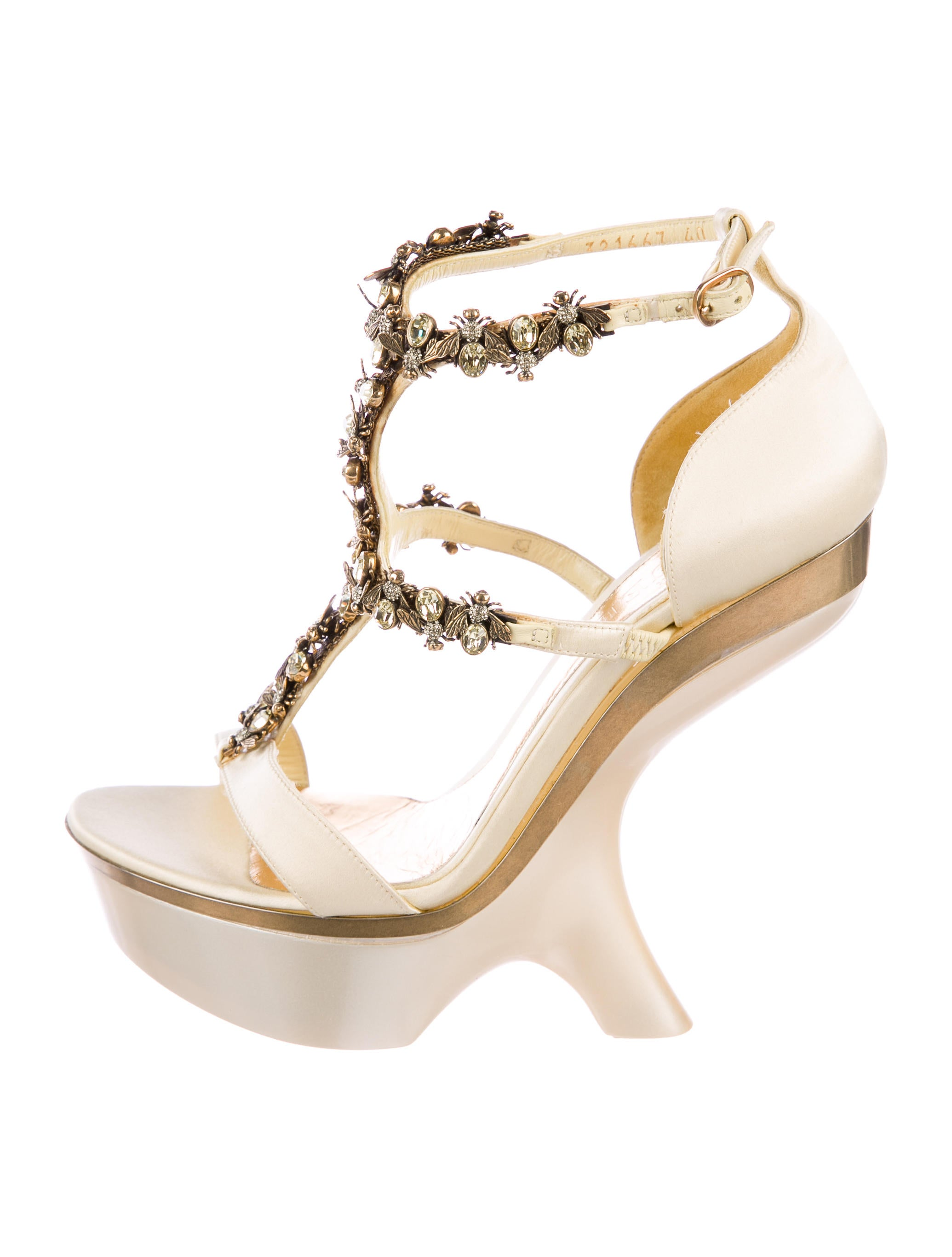 cheap with mastercard best cheap online Alexander McQueen Crystal Bee Platform Sandals with mastercard sale online clearance high quality sale sneakernews RCQFaK