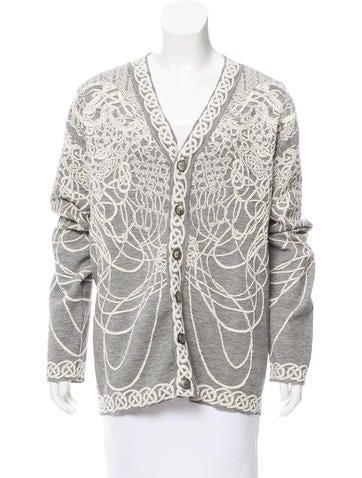 Alexander McQueen Textured Wool Cardigan None