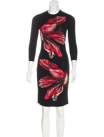 Alexander McQueen Wool Intarsia Dress None