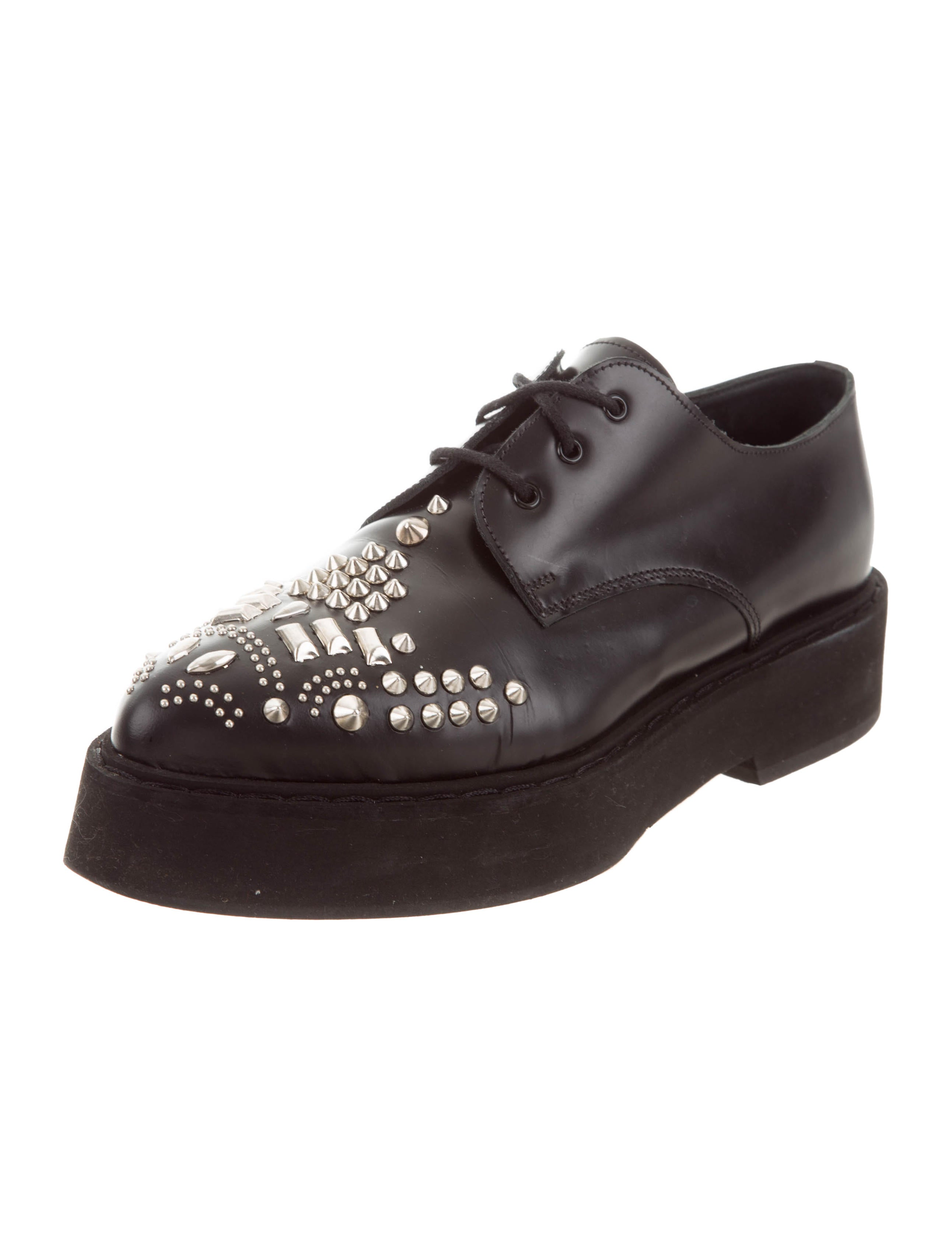Alexander McQueen Embellished Flatform Oxfords sale choice clearance store online gtR8tE3akO