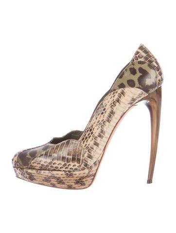 Alexander McQueen Python-Trimmed Bouclé Pumps get authentic online cheap sale 2015 new release dates online FdZt6Cd