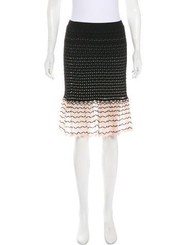 Alexander McQueen Knit Knee-Length Skirt None