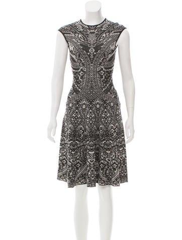 Alexander McQueen Patterned Knee-Length Dress None