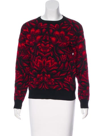Alexander McQueen Textured Knit Sweater None