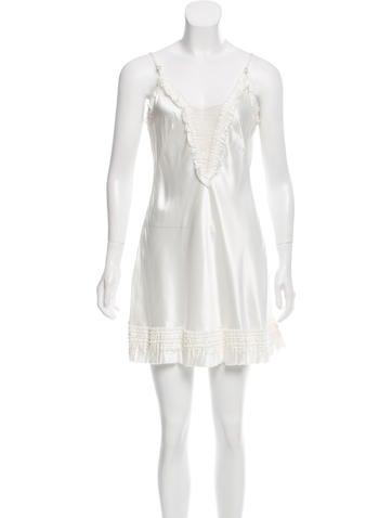 Alexander Mc Queen Ruffle Trimmed Mini Dress by Alexander Mc Queen