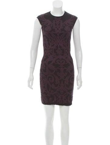 Alexander McQueen Sleeveless Bodycon Dress None